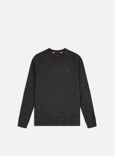 Outlet e Saldi Maglioni girocollo Tommy Hilfiger Luxury Wool Cotton Sweater