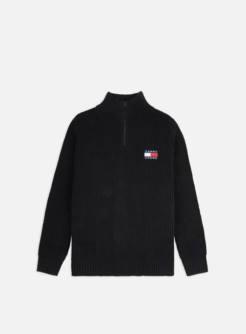 Outlet e Saldi Maglioni collo alto Tommy Hilfiger TJ Tommy Badge Half Zip Sweater