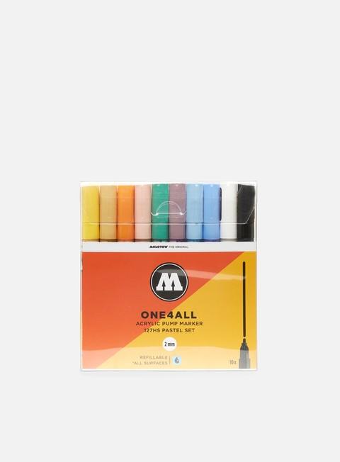 marker molotow 127 hs pastel set 10 pz