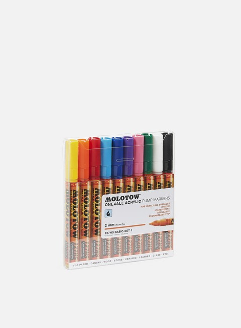 Marker per Art & Custom Molotow ONE4ALL 127 HS Basic Set I 10 pz
