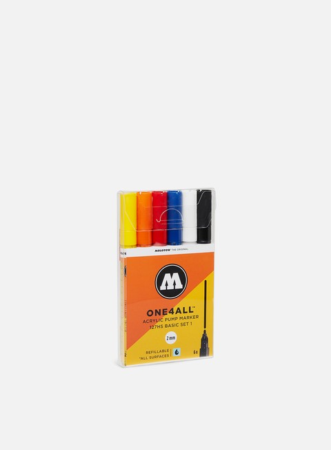 Fine Art Markers Molotow ONE4ALL 127 HS Basic Set I 6 pz