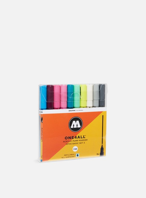 Art & Custom Markers Molotow ONE4ALL 127 HS Basic Set III 10 pz