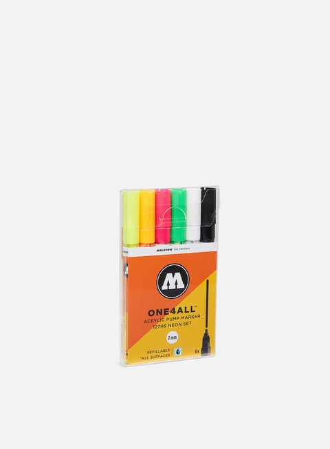 Marker per Art & Custom Molotow ONE4ALL 127 HS Neon Set 6 pz