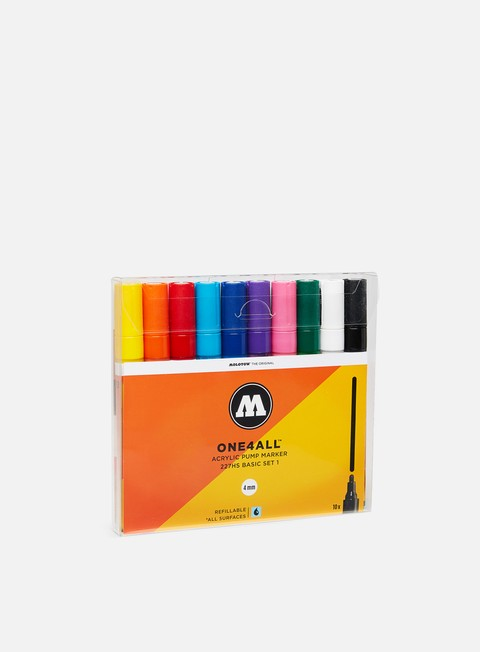 Marker per Art & Custom Molotow ONE4ALL 227 HS Basic Set I 10 pz