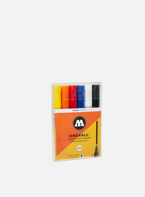 Art & Custom Markers Molotow ONE4ALL 227 HS Basic Set I 6 pz
