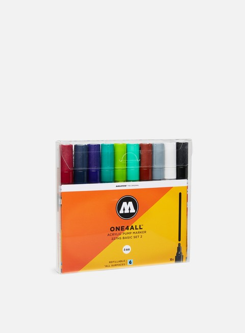 marker molotow one4all 227 hs basic set ii 10 pz