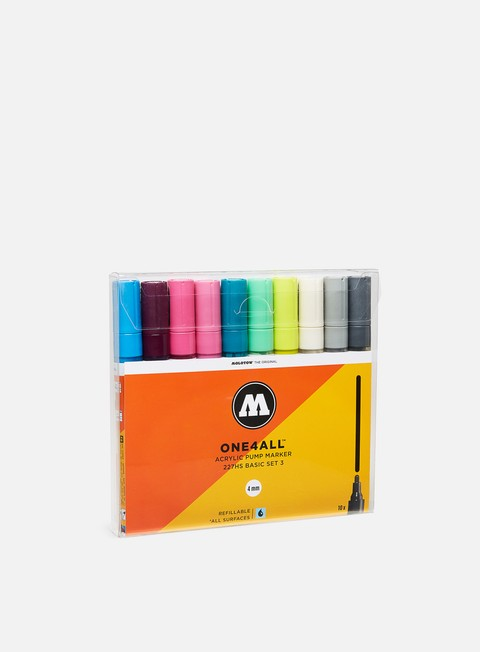 Art & Custom Markers Molotow ONE4ALL 227 HS Basic Set III 10 pz