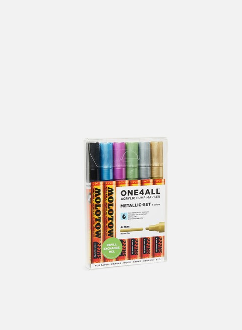 marker molotow one4all 227 hs metallic set 6 pz