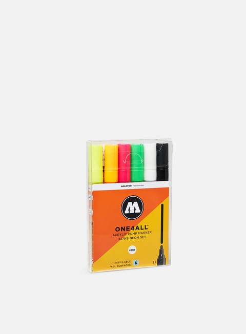 Marker per Art & Custom Molotow ONE4ALL 227 HS Neon Set 6 pz