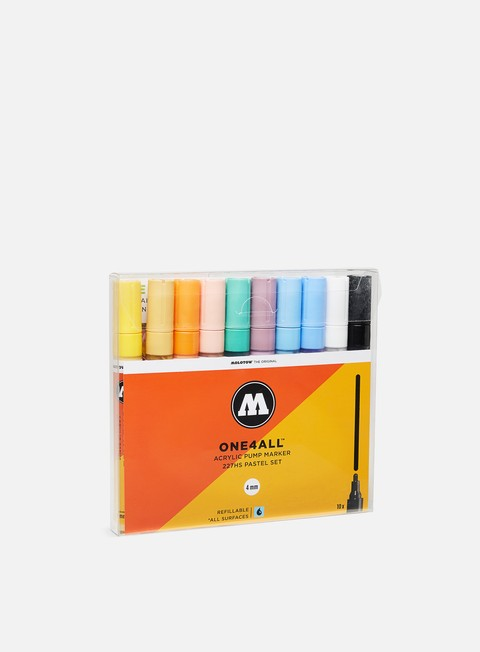 marker molotow one4all 227 hs pastel set 10 pz