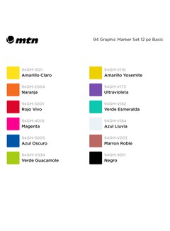 Montana - 94 Graphic Marker Set 12 pz Basic 4
