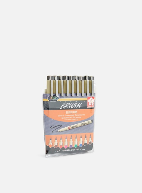 marker sakura pigma brush set 9 pz
