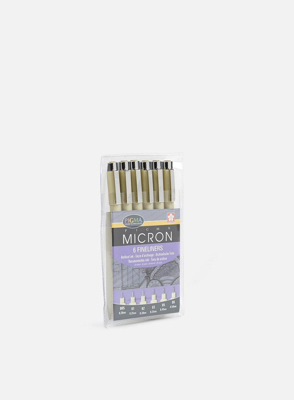 Sakura Pigma Micron Set 6 pz