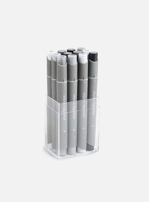 Marker per Sketch & Design Stylefile AllRound Set 12 Neutral Grey