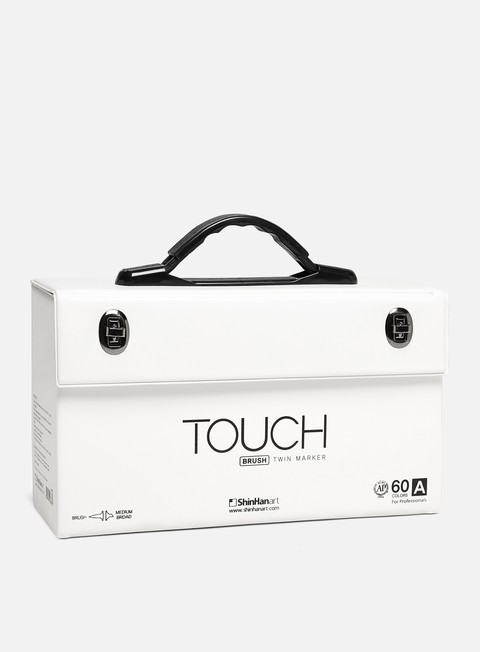 marker touch brush twin set 60 pz gamma a