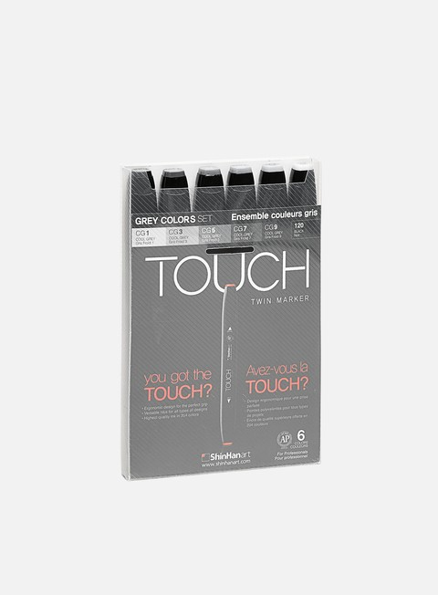 marker touch twin set 6 pz grey colors