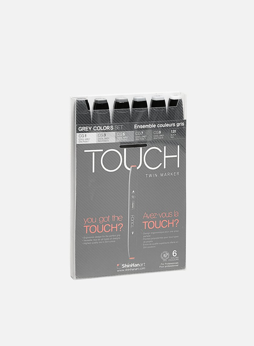 Touch - Twin Set 6 pz Grey Colors