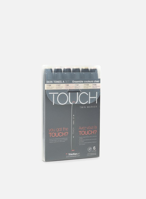 marker touch twin set 6 pz skin tones a