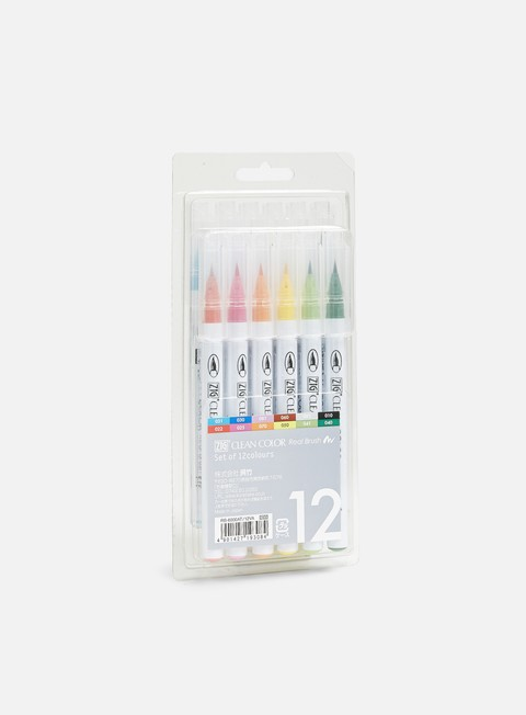 Marker per Sketch & Design Zig Clean Color Real Brush 12 pz