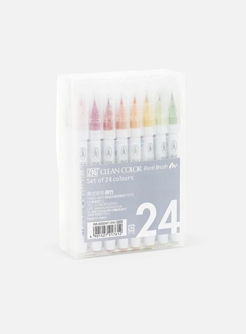 Marker per Calligrafia Zig Clean Color Real Brush 24 pz