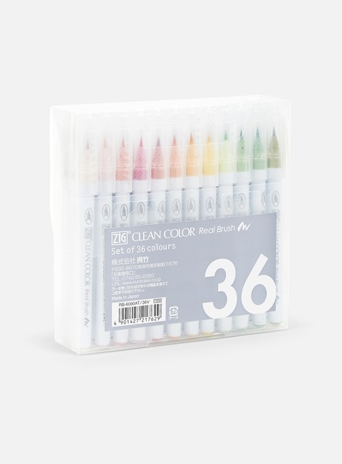marker zig clean color real brush 36 pz