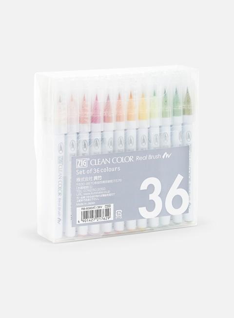Marker per Calligrafia Zig Clean Color Real Brush 36 pz