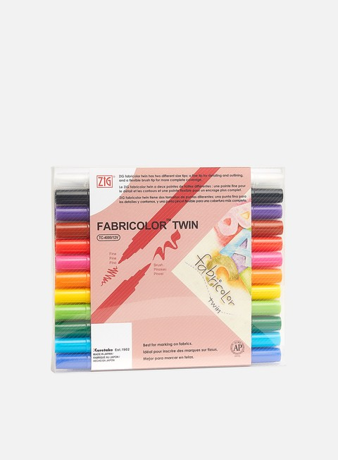 Art & Custom Markers Zig Fabricolor Twin Set 12