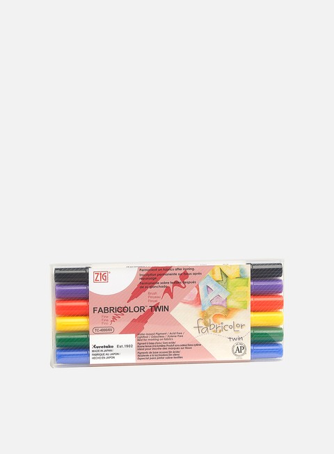 Art & Custom Markers Zig Fabricolor Twin Set 6