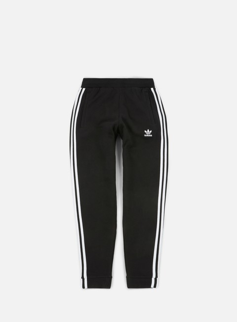 pantaloni adidas originals 3 stripes pant black white