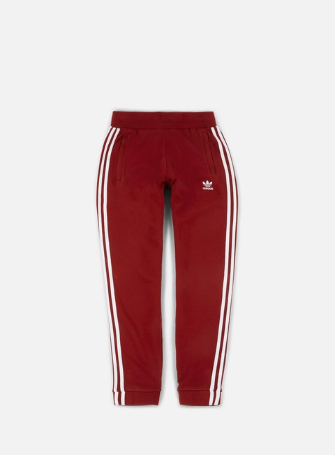 pantaloni adidas originals 3 stripes pant rust red