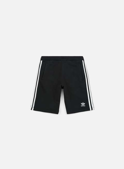 pantaloni adidas originals 3 stripes short black