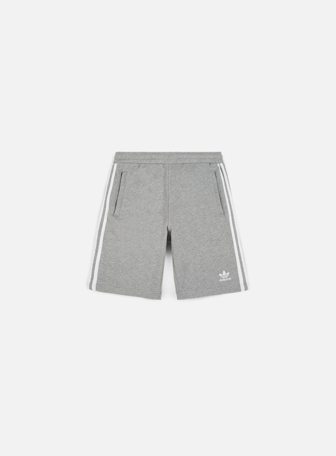 pantaloni adidas originals 3 stripes short medium grey heather