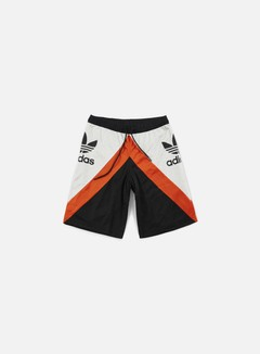 Adidas Originals - Basketball Shorts, Black/Talc/Collegiate Orange 1