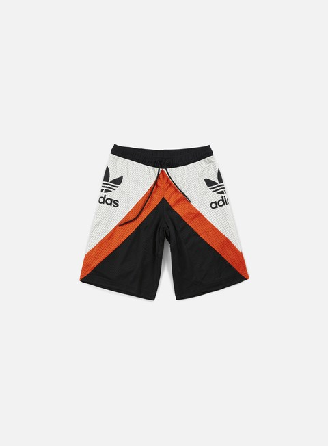 pantaloni adidas originals basketball shorts black talc collegiate orange