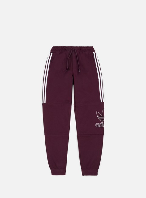 pantaloni adidas originals outline pant maroon