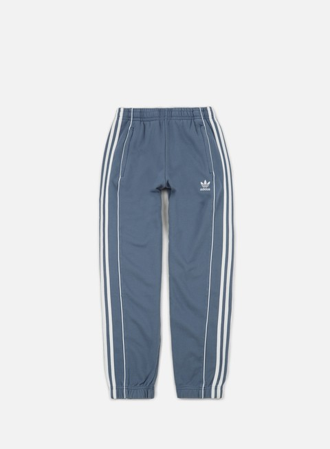 pantaloni adidas originals pipe sweat pant raw steel white