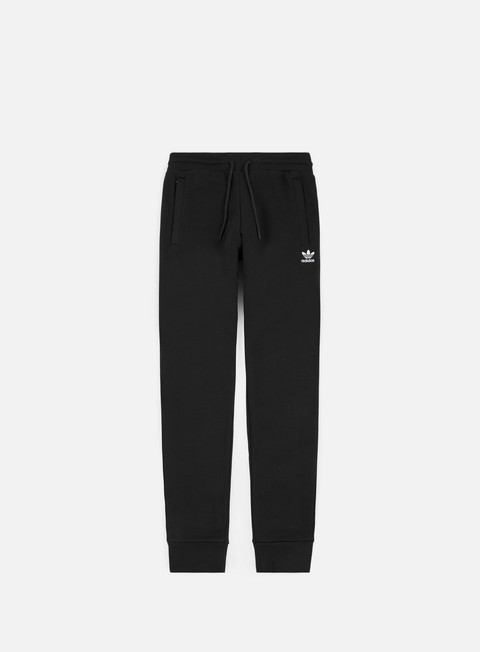 pantaloni adidas originals slim flc pant black