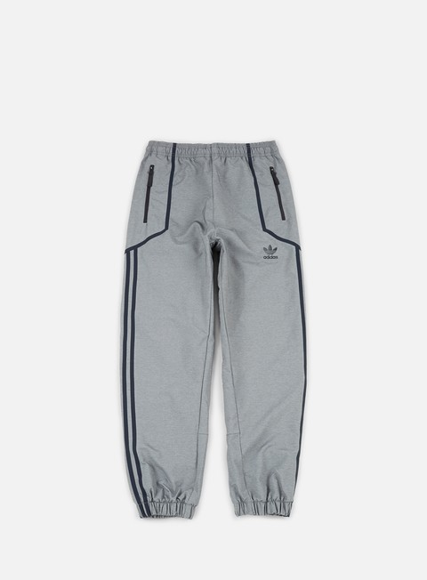 pantaloni adidas originals taped wind pant medium grey heather