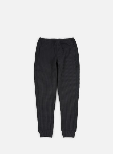 pantaloni adidas originals thermal waffle track pants black