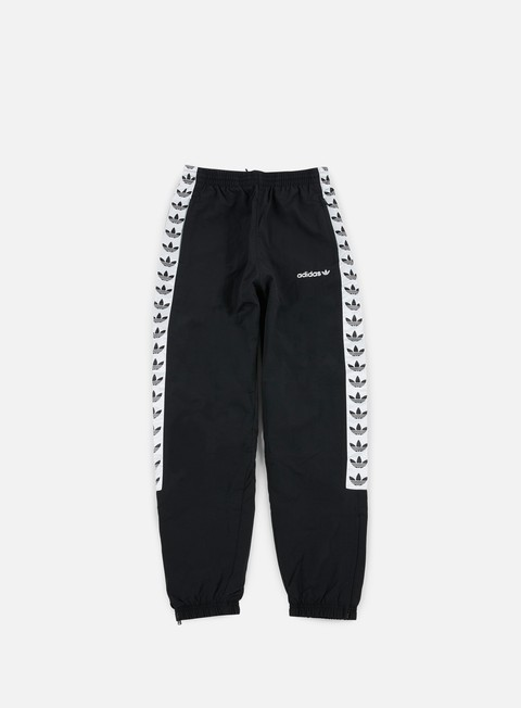 pantaloni adidas originals tnt trefoil wind pant black white