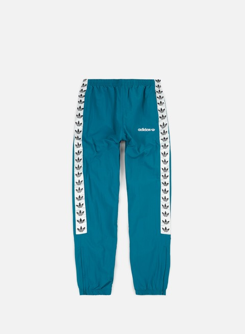 pantaloni adidas originals tnt trefoil wind pant real teal