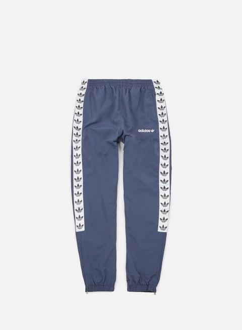 pantaloni adidas originals tnt trefoil wind pant trace blue white