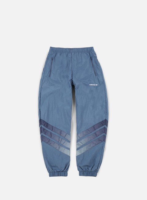 pantaloni adidas originals v stripes pant raw steel white