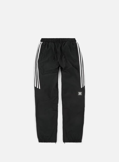 pantaloni adidas skateboarding classic wind pants black white