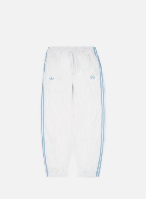 pantaloni adidas skateboarding krooked track pants white clear blue
