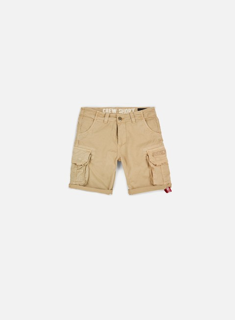pantaloni alpha industries crew short sand