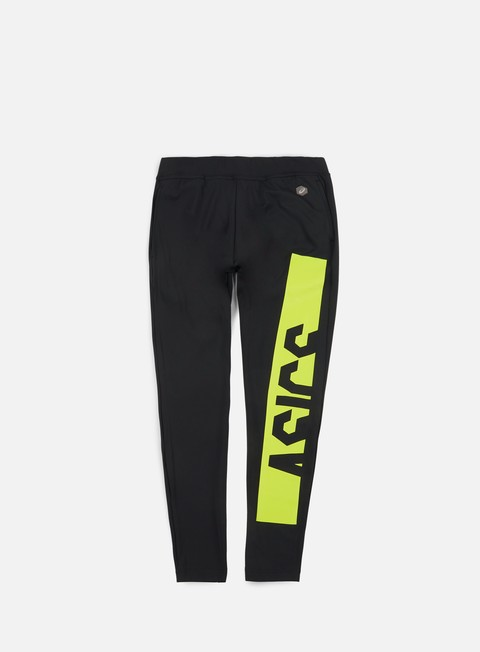 pantaloni asics fitted knit pant energy green