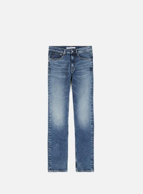 pantaloni calvin klein jeans athletic ta pant ortigia blue