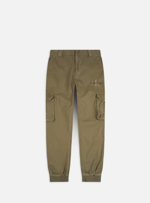 Sale Outlet Pants Calvin Klein Jeans Cargo Slim Mixed Med Cuffed Pants