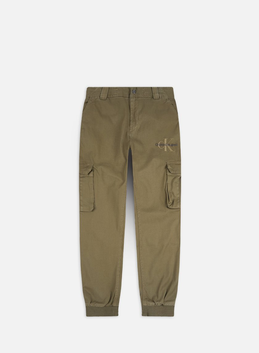 Calvin Klein Jeans Cargo Slim Mixed Med Cuffed Pants